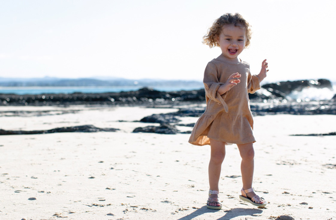 Lifestyle photography for Salt-Water Sandals at KIDLY