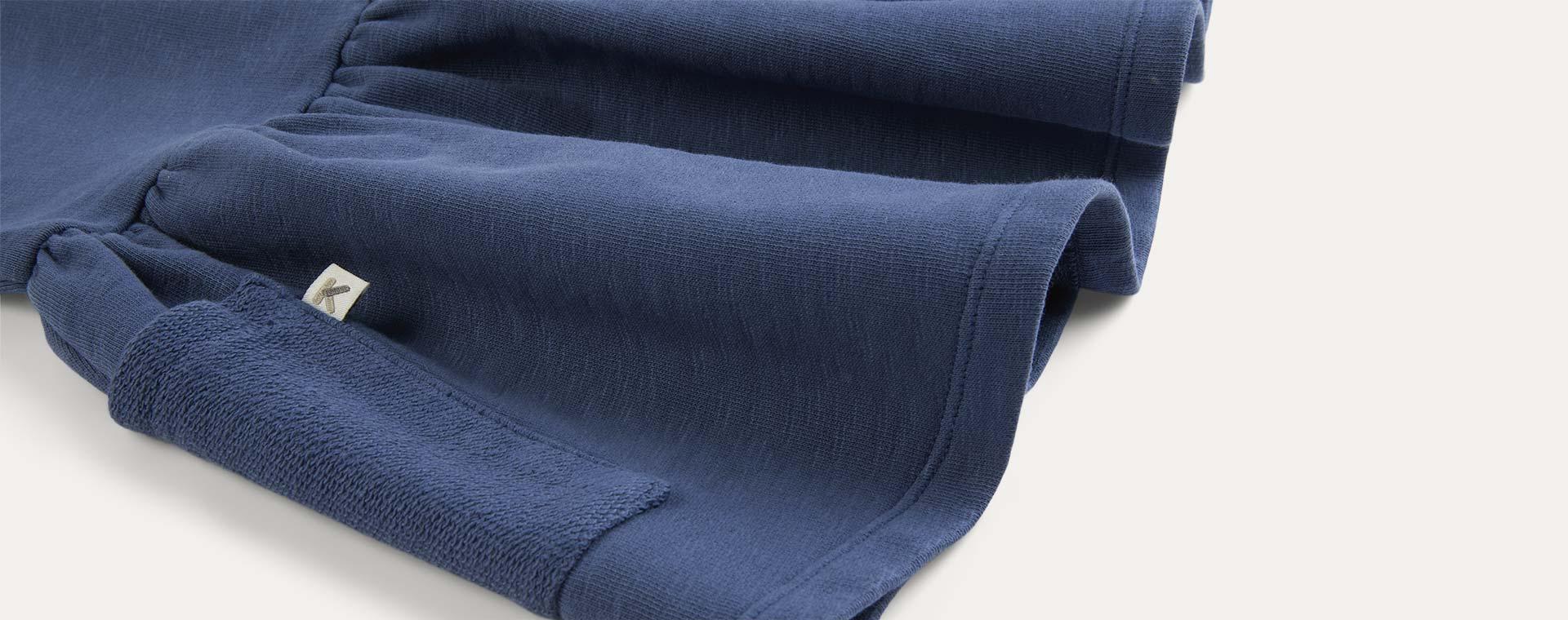 Navy KIDLY Label Organic Sweatshirt Dress
