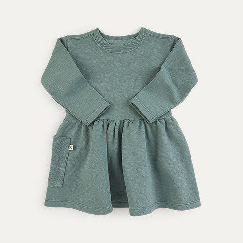 Pine KIDLY Label Organic Sweatshirt Dress
