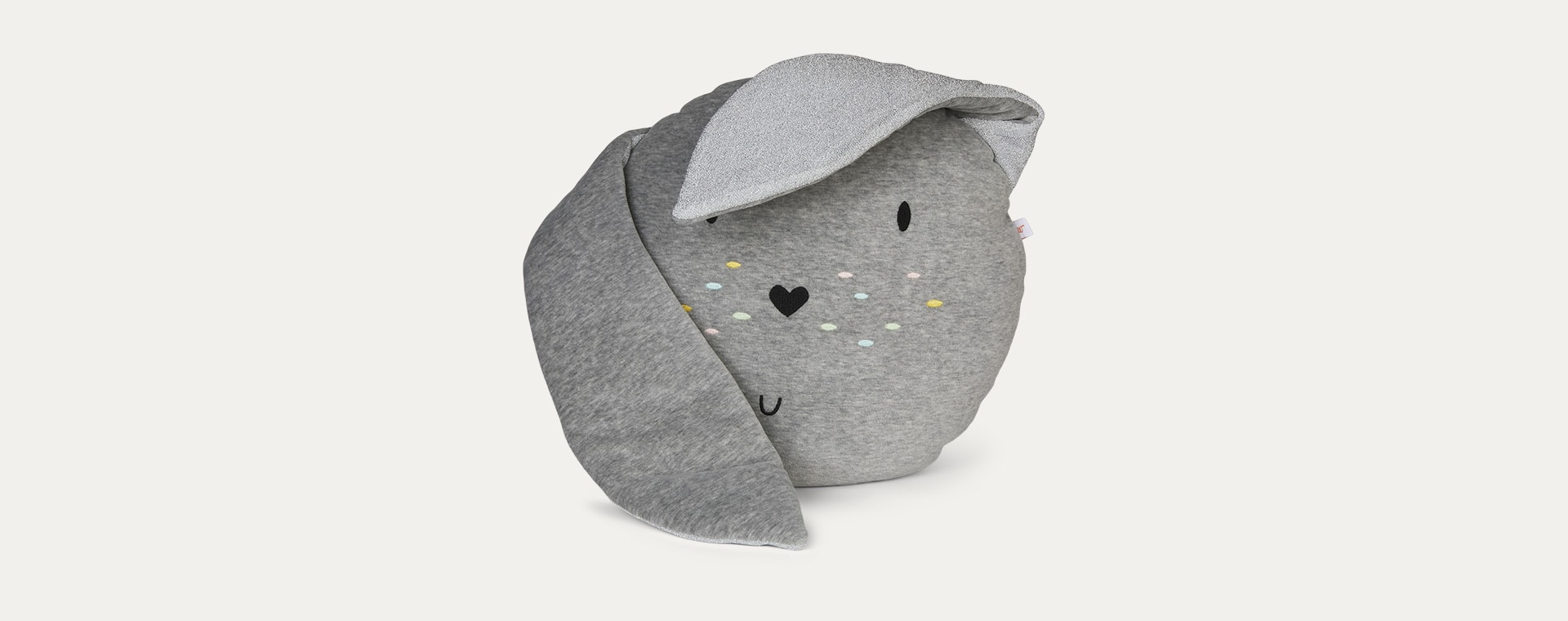Grey wigiwama Bunny Cushion