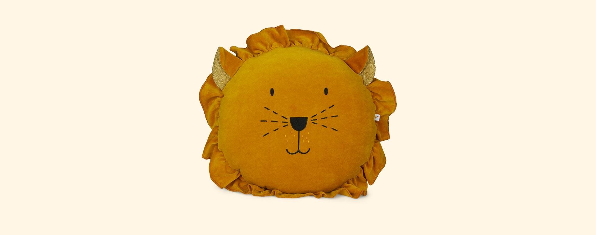 Mustard wigiwama Lion Cushion