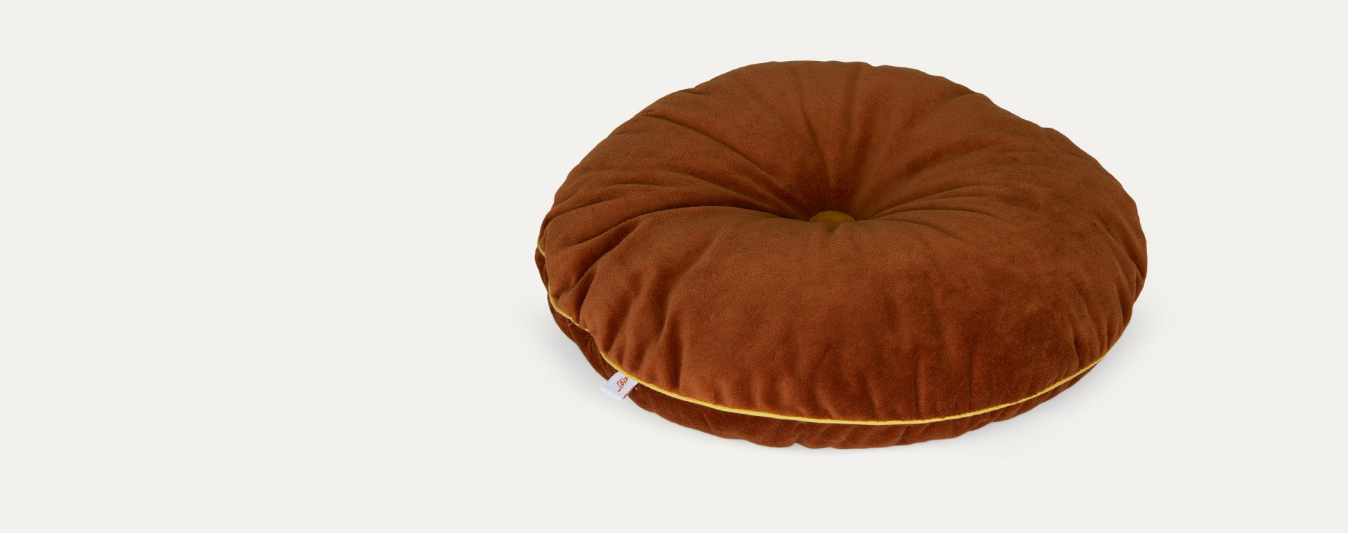 Cinnamon/Mustard wigiwama Round Button Cushion