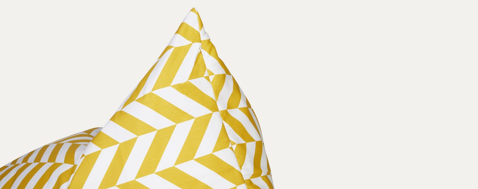 Mustard Herringbone wigiwama Beanbag