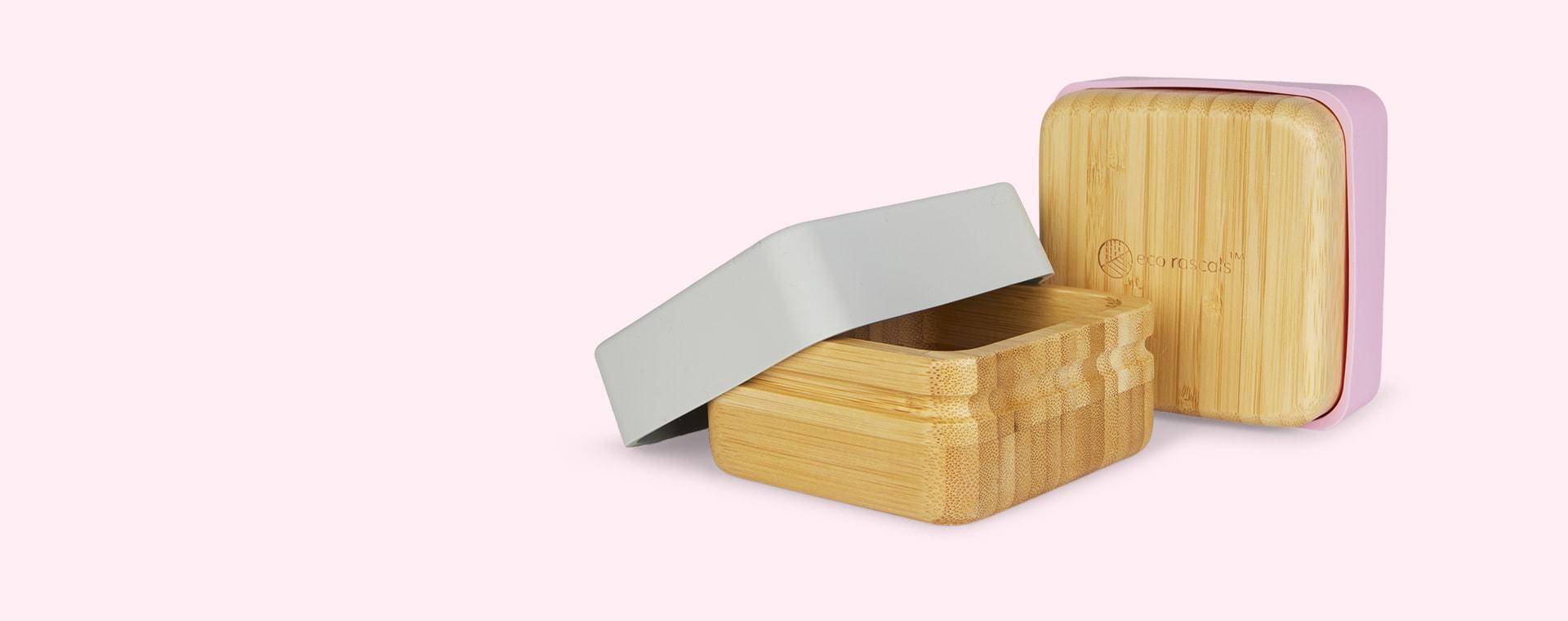 Pink/Grey eco rascals 2-Pack Snack Pots