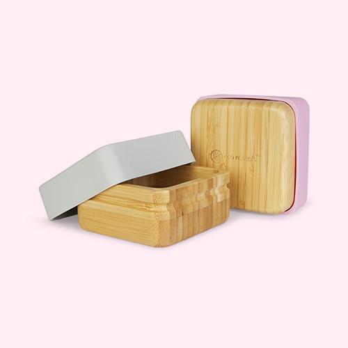 Pink/Grey eco rascals 2 Pack Snack Pots