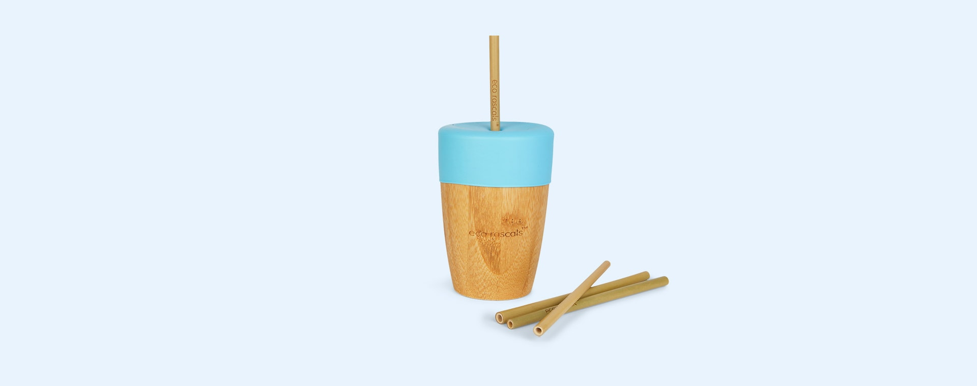 Blue eco rascals Bamboo Suction Toddler Tableware Set