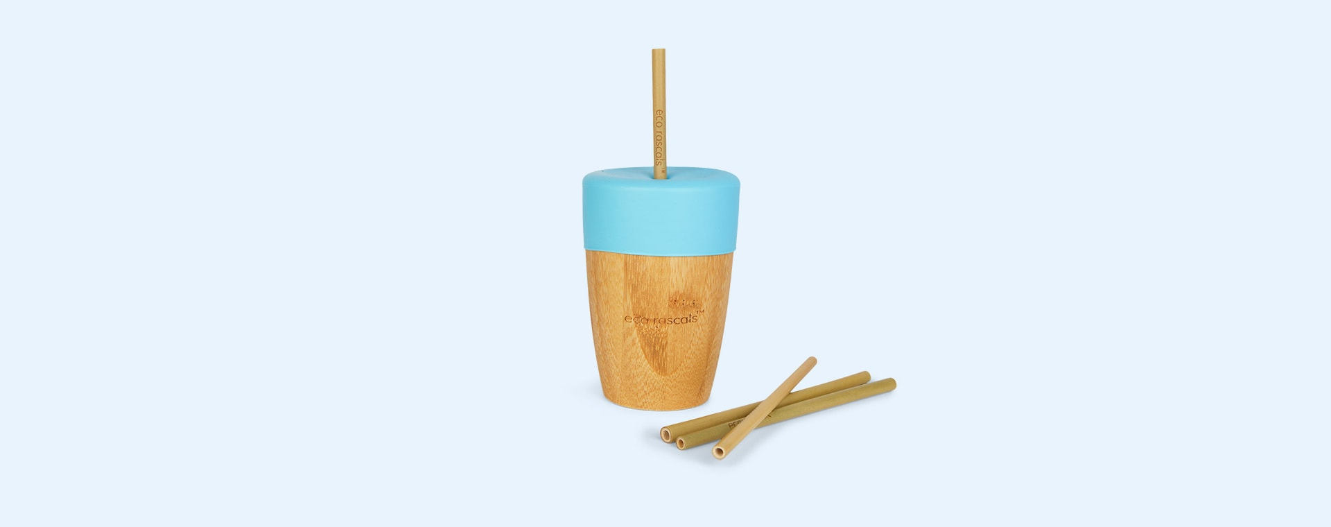 Blue eco rascals Bamboo Suction Car Tableware Set