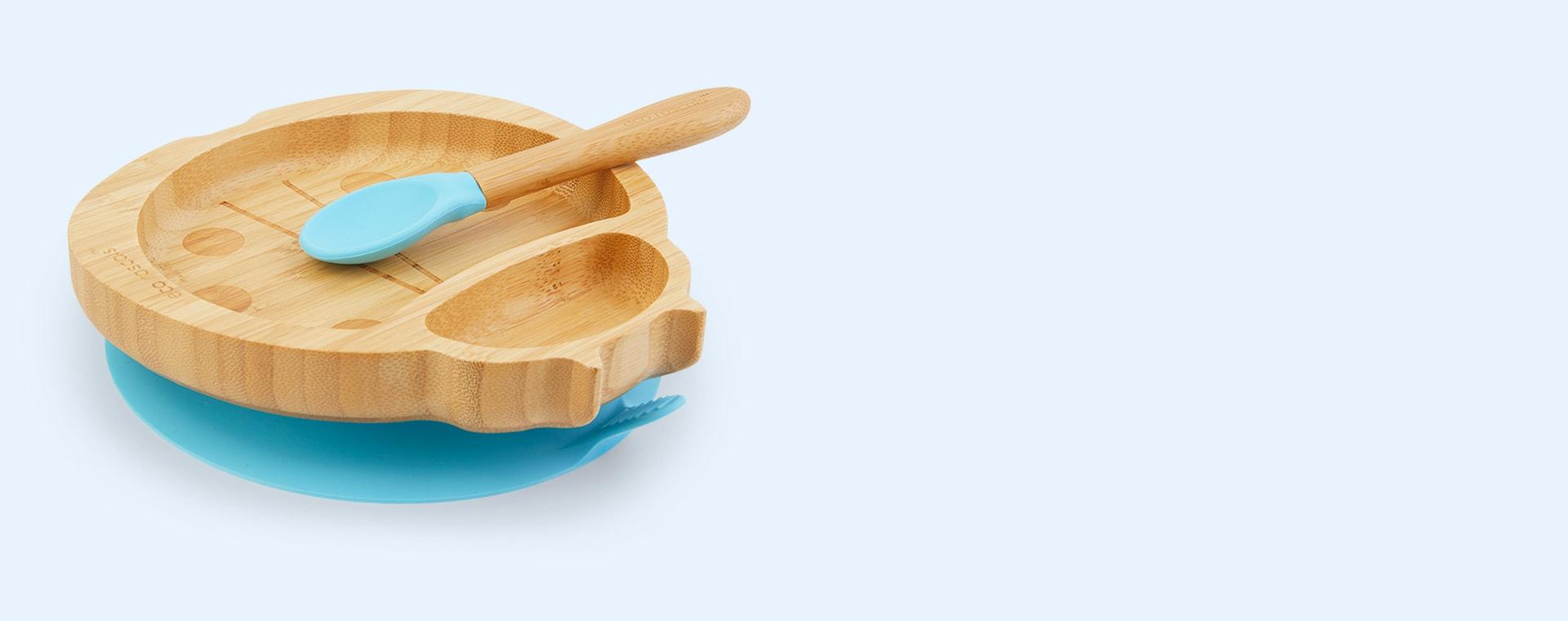 Blue eco rascals Bamboo Suction Ladybird Tableware Set