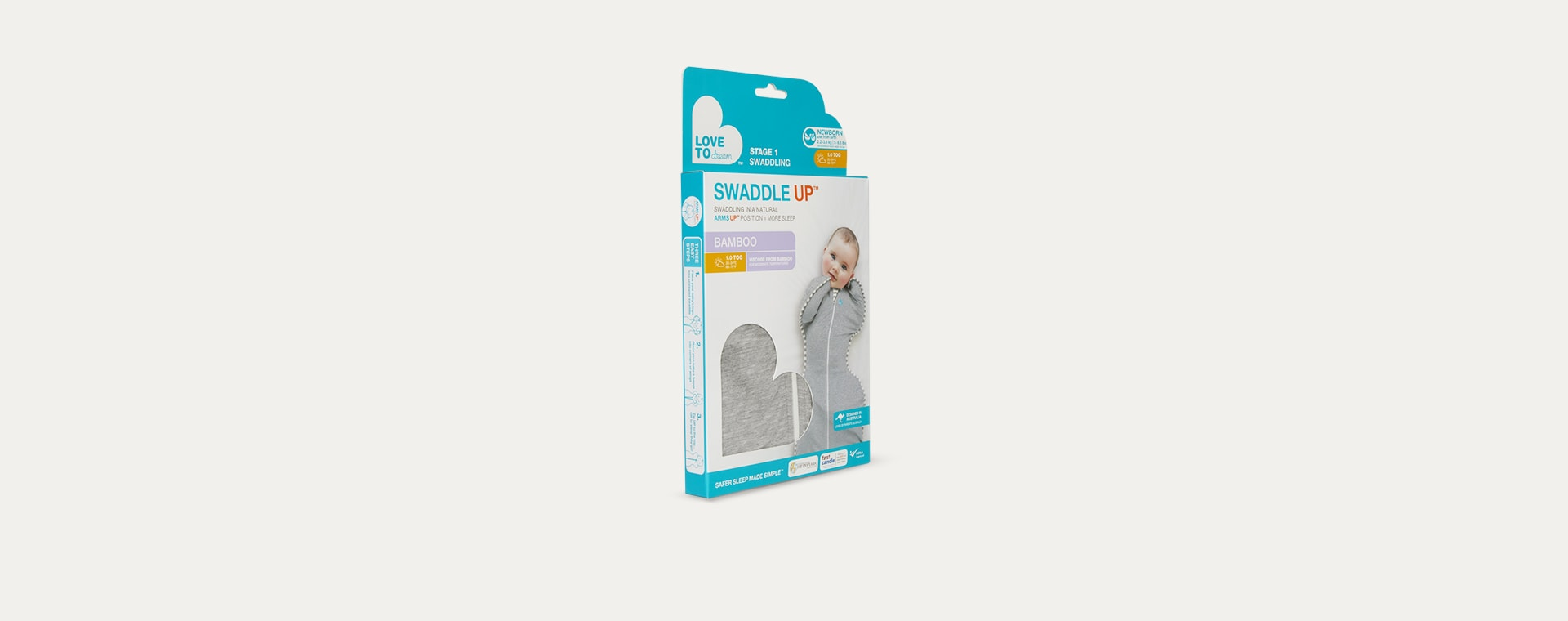 Grey Marle Love To Dream Swaddle Up Bamboo Original 1.0 Tog Sleeping Bag