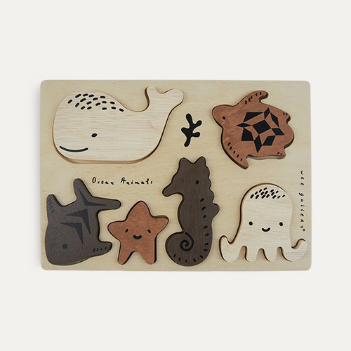 Ocean Animals Wee Gallery Wooden Tray Puzzle