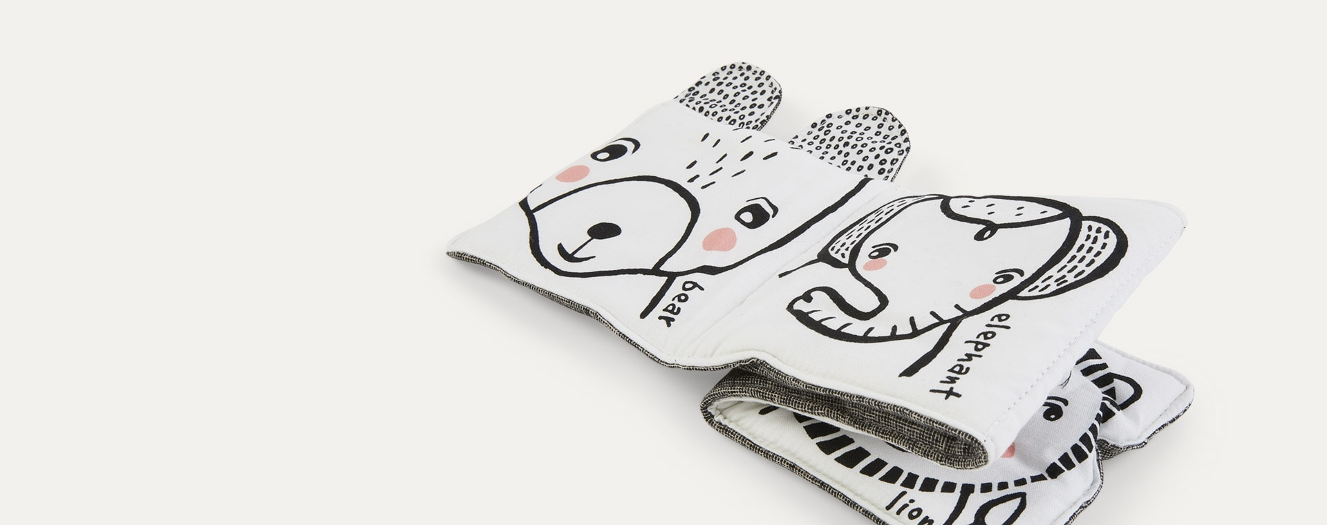 Friendly Face in the Wild Wee Gallery Soft Cloth Book