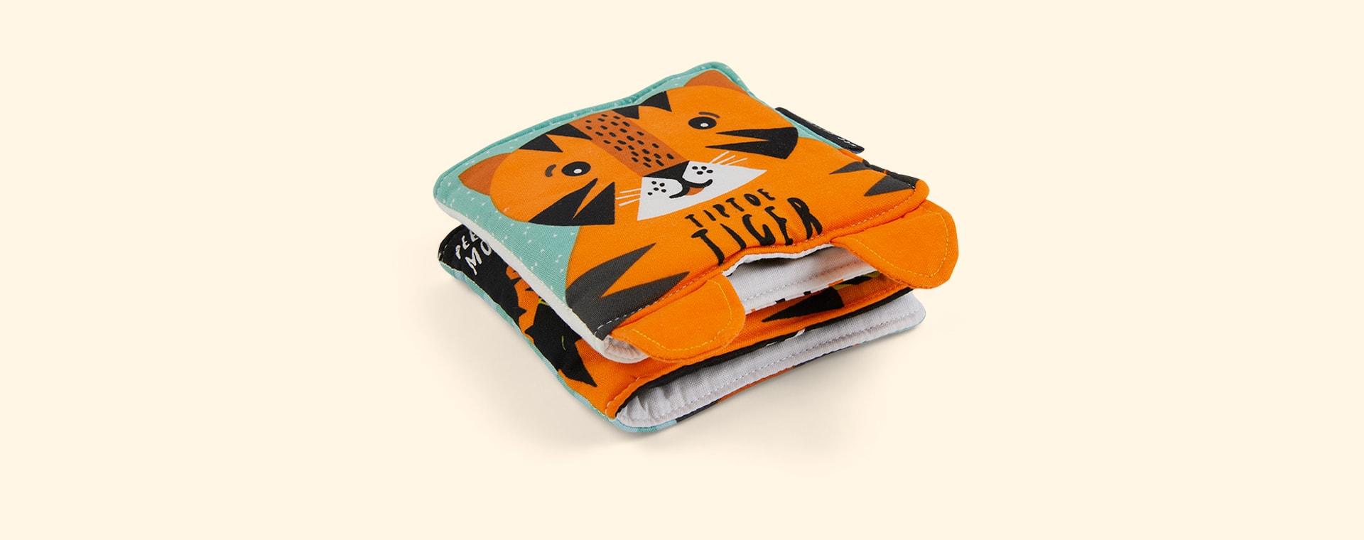 Tiptoe Tiger Wee Gallery Soft Cloth Book