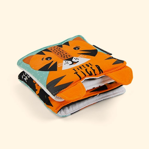 Tiptoe Tiger Wee Gallery Soft Cloth Book