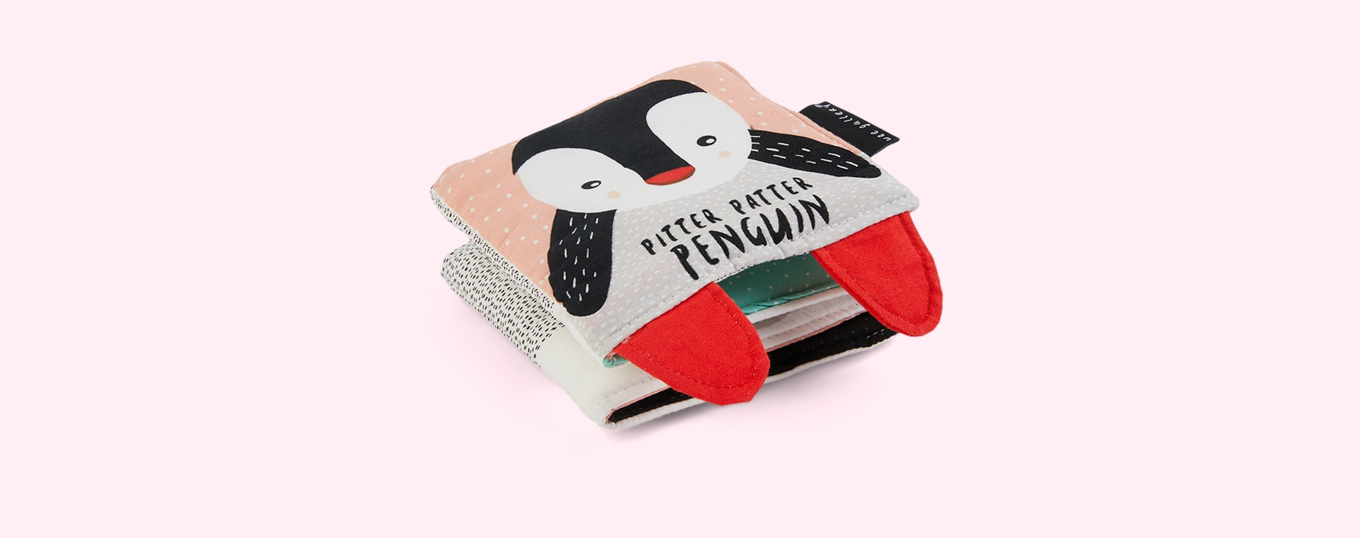 Pitter Patter Penguin Wee Gallery Soft Cloth Book