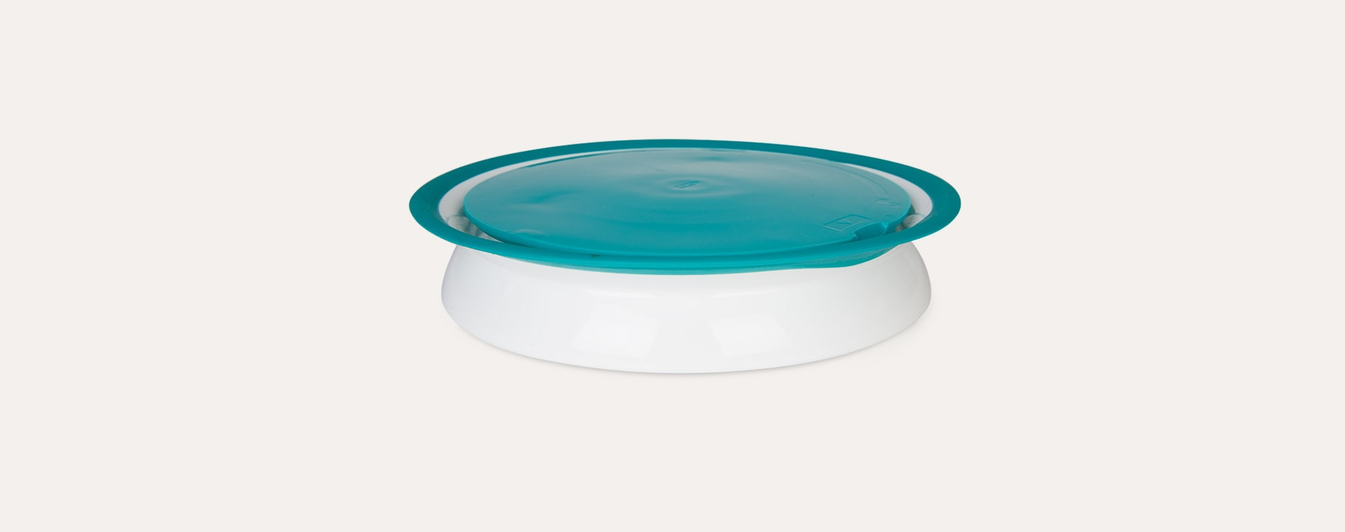 Teal Oxo Tot Stick & Stay Suction Divided Plate