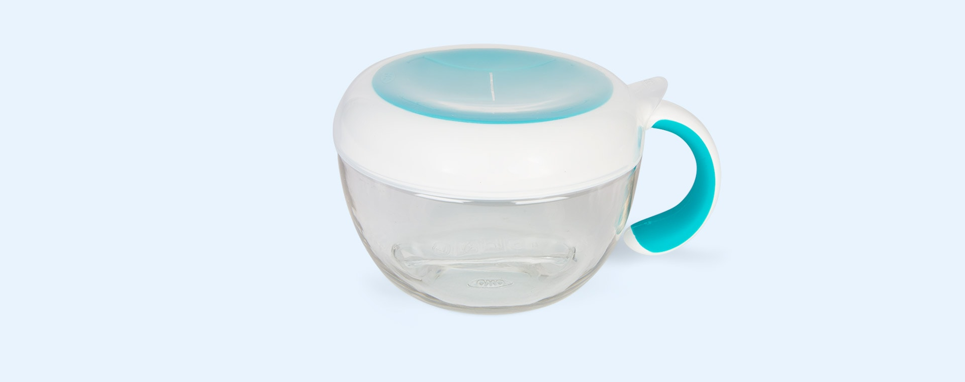 Teal Oxo Tot Flippy Snack Cup with Travel Cover