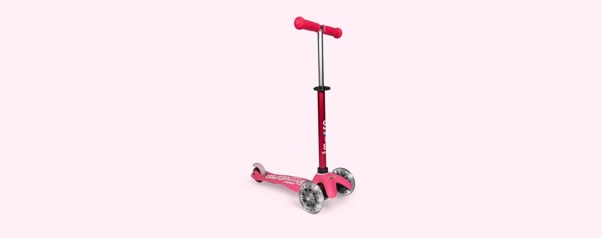 Pink Micro Scooters Mini Micro Deluxe Scooter LED