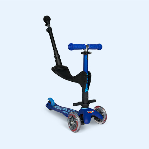 Blue Micro Scooters 3 in 1 Deluxe Push Along Scooter