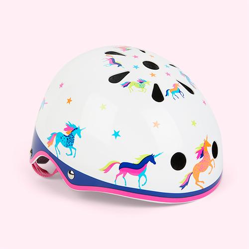Unicorn Micro Scooters Pattern Deluxe Helmet