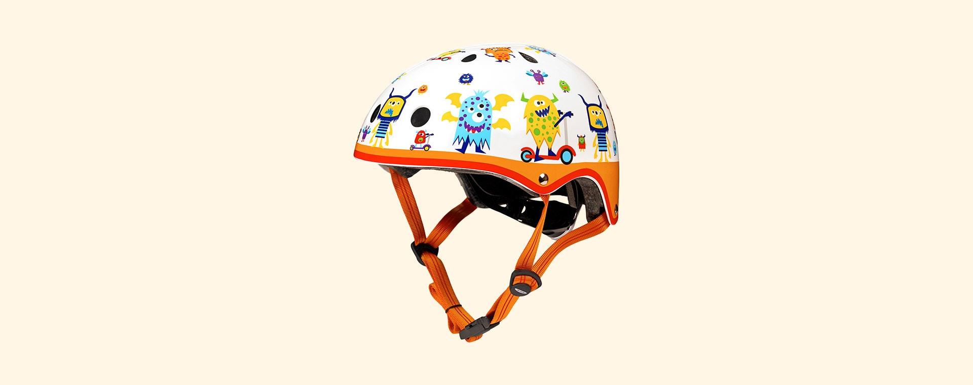 Monster Micro Scooters Pattern Deluxe Helmet