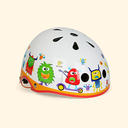 Monster Micro Scooters Pattern Deluxe Helmet