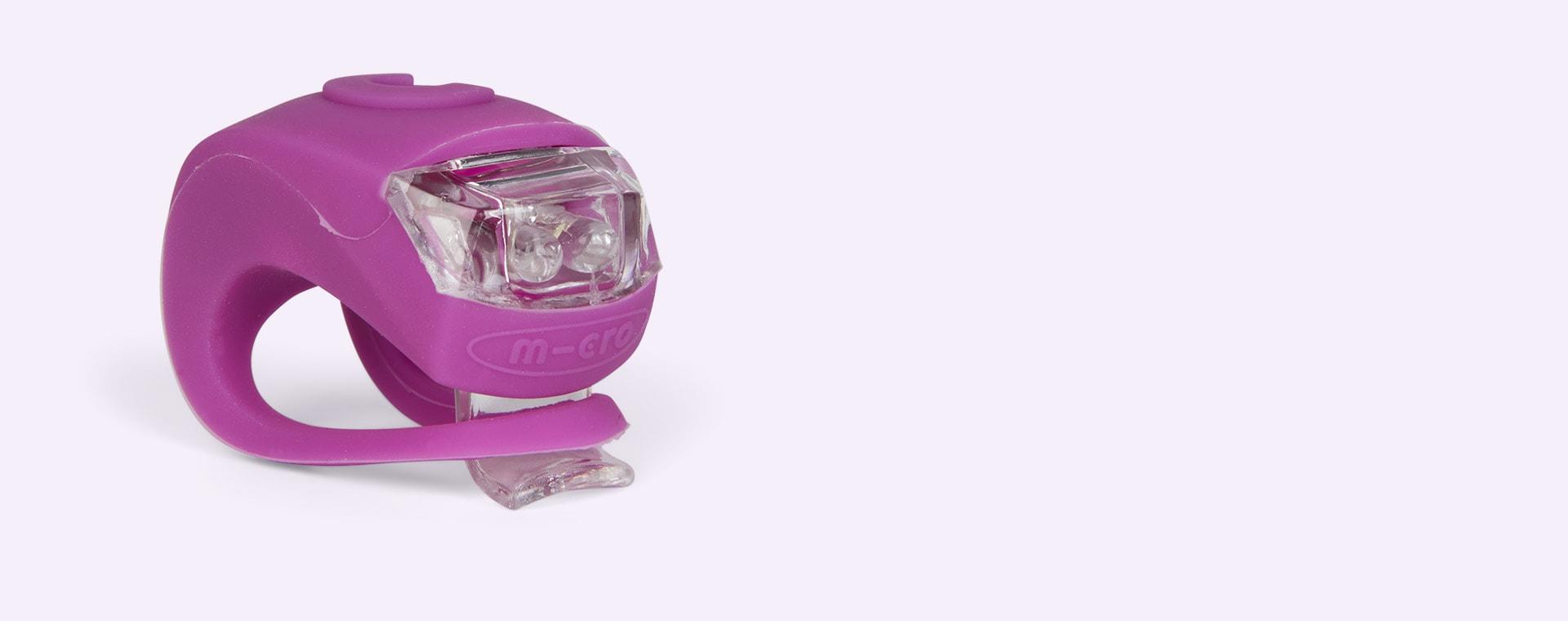 Purple Micro Scooters Light