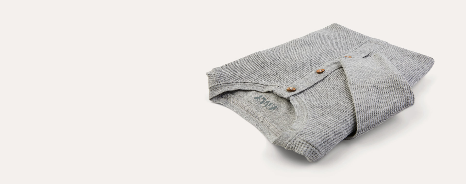 Light Grey Marl KIDLY Label Organic Waffle All-In-One