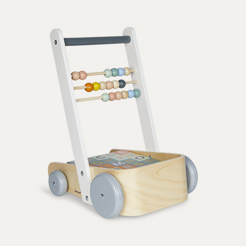 Multi Janod Sweet Cocoon Cart With ABC Blocks