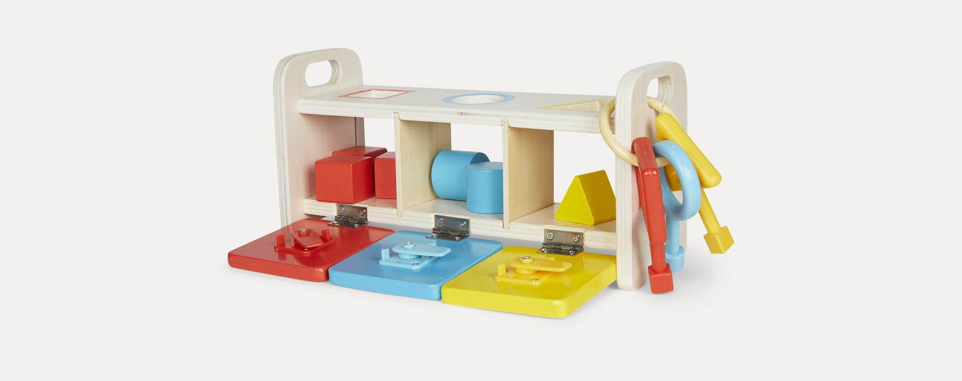 Multi Janod Shape Sorter Box With Keys