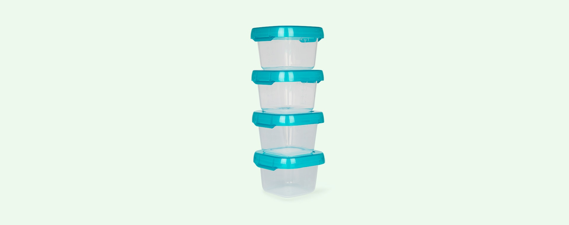 Teal Oxo Tot Baby Blocks Freezer Storage Containers (4oz)