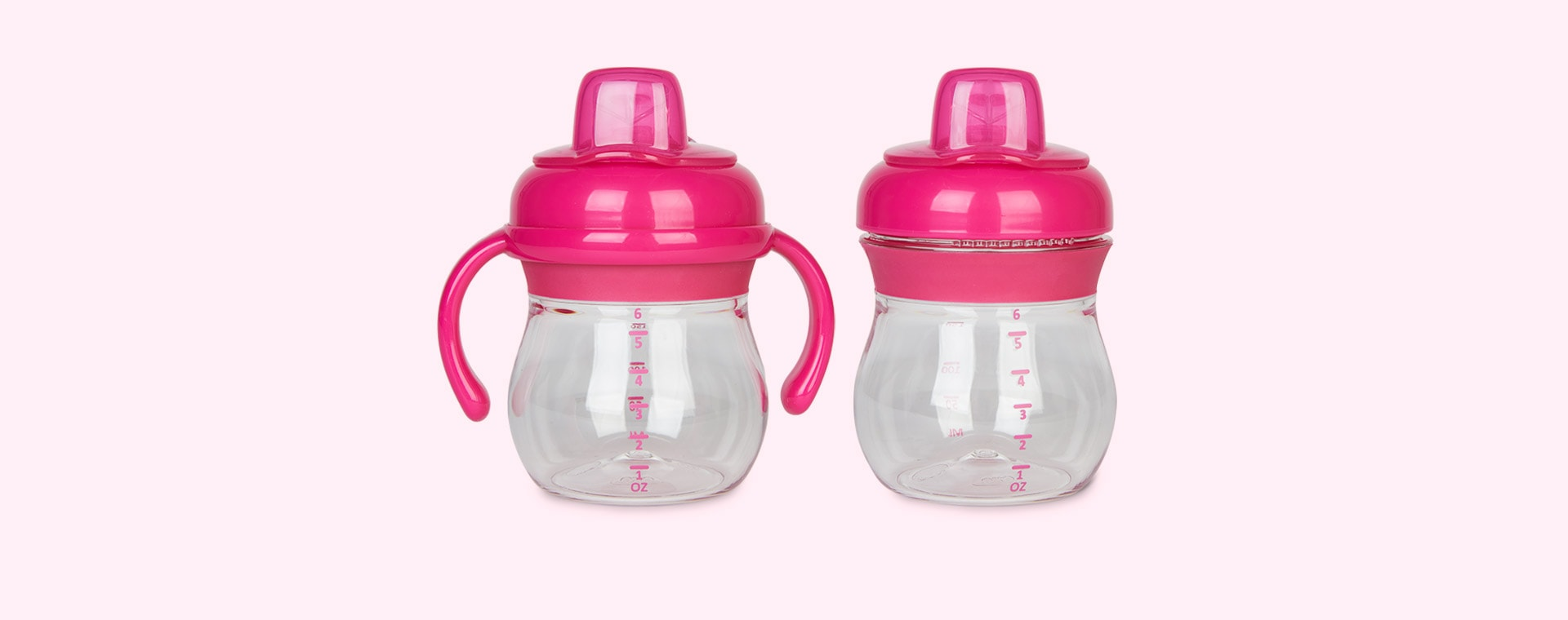 Raspberry Oxo Tot Transitions Soft Spout Sippy Cup With Handles