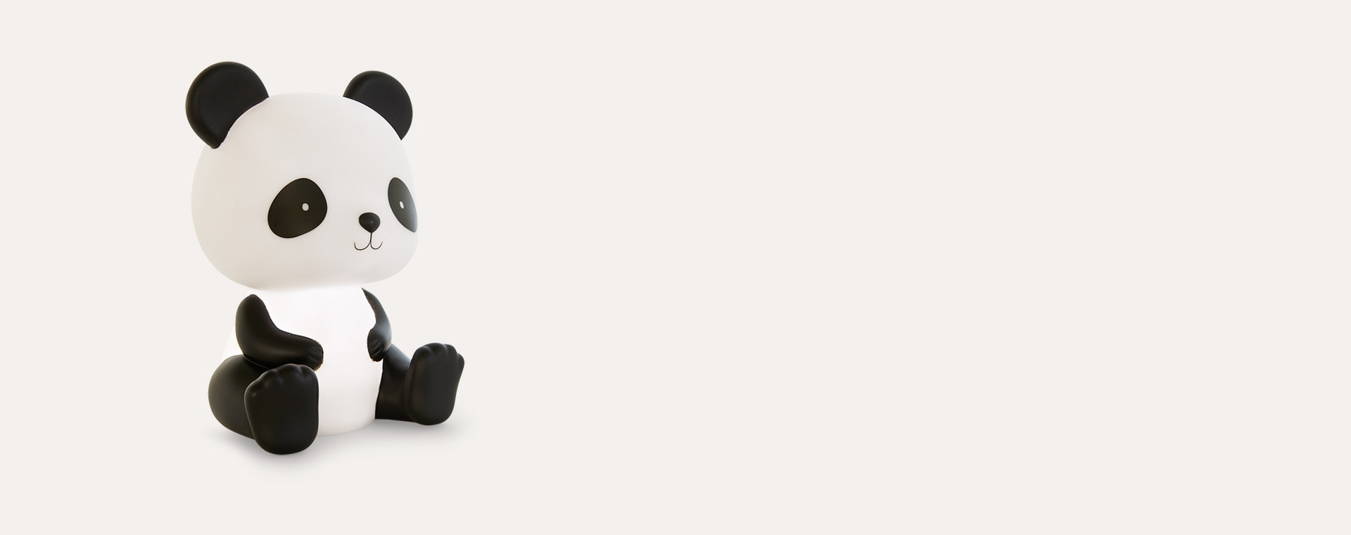 Black A Little Lovely Company Panda Nightlight