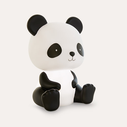 Black A Little Lovely Company Panda Nightlight