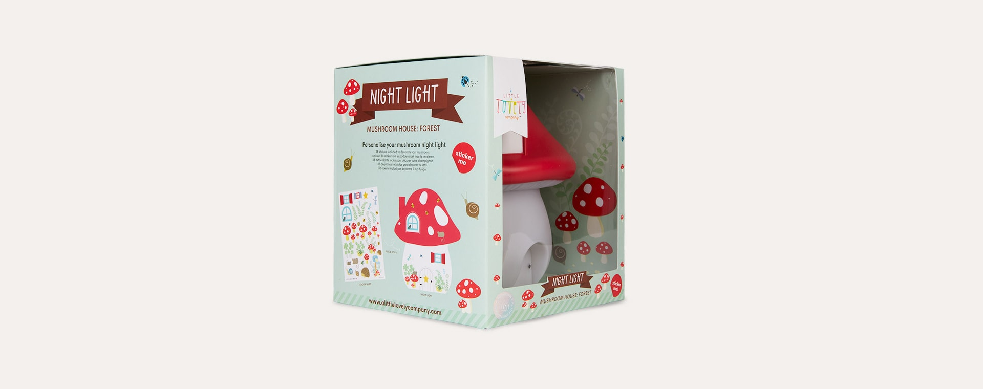 Forest A Little Lovely Company Mushroom House Nightlight