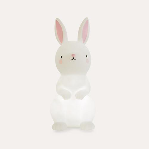 White A Little Lovely Company Bunny Nightlight