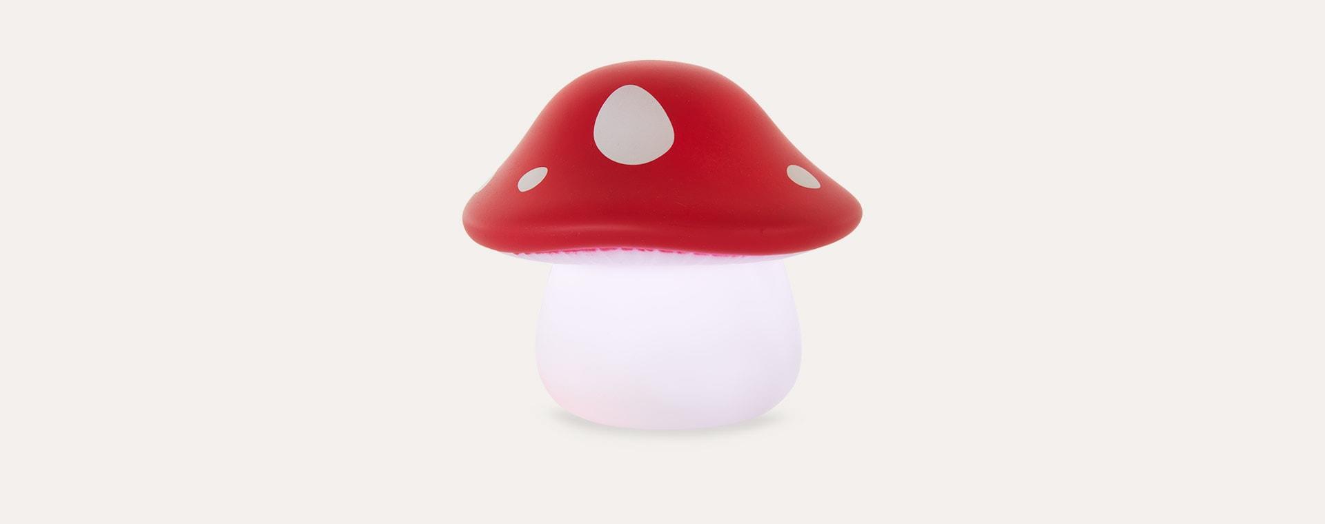Red A Little Lovely Company Mushroom Little Light