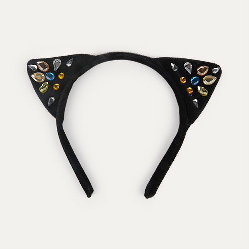 Black Meri Meri Sparkle Cat Ear Headband