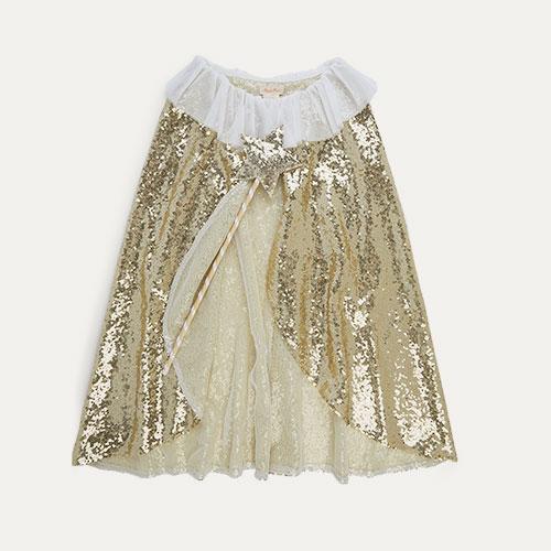 Gold Meri Meri Gold Sparkle Cape Dress Up