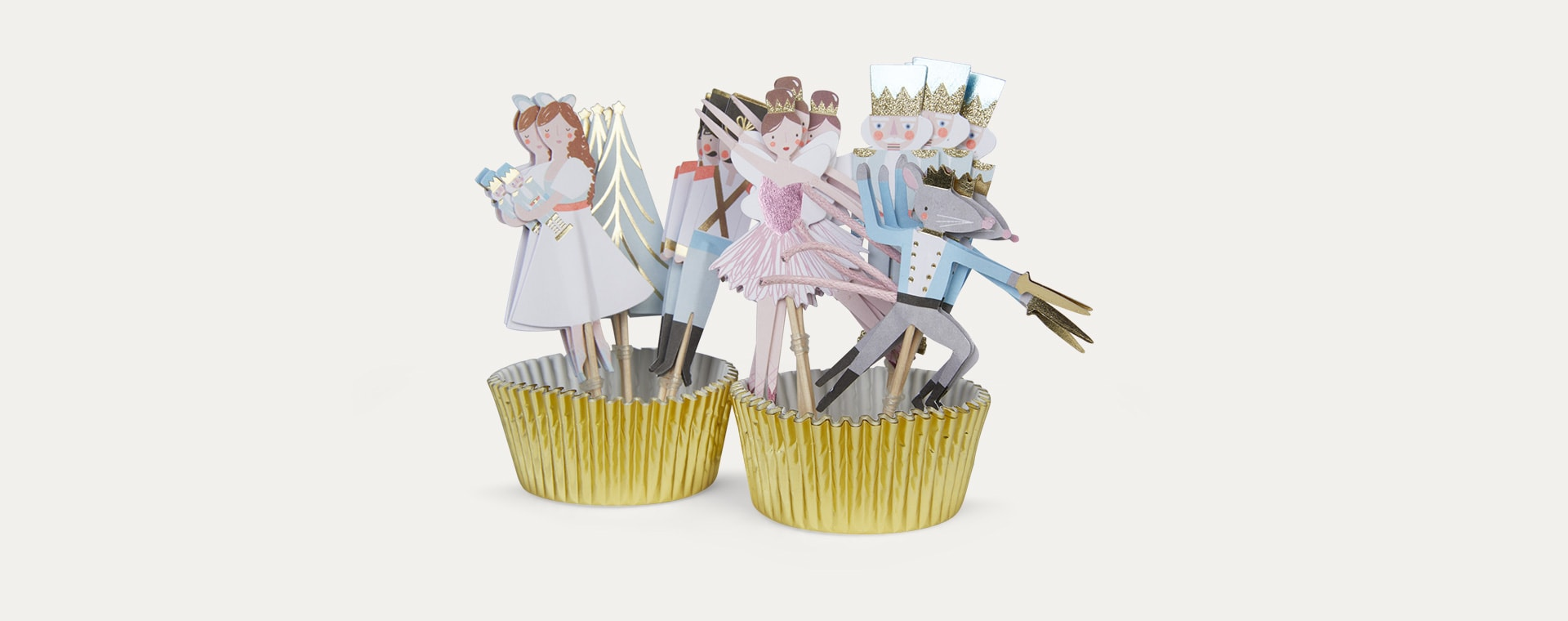 Multi Meri Meri Nutcracker Christmas Cupcake Kit
