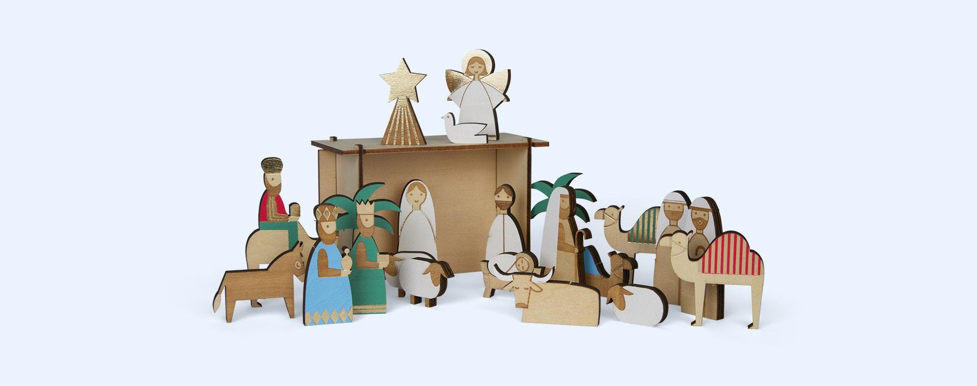 Multi Meri Meri Wooden Nativity Advent Calendar