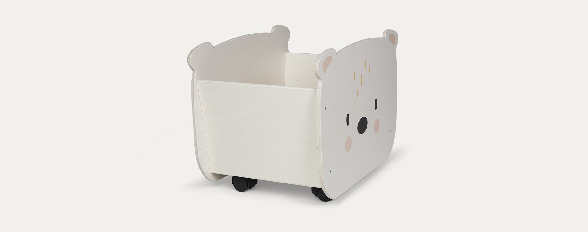 Neutral Tender Leaf Toys Pull Along Bear Cart