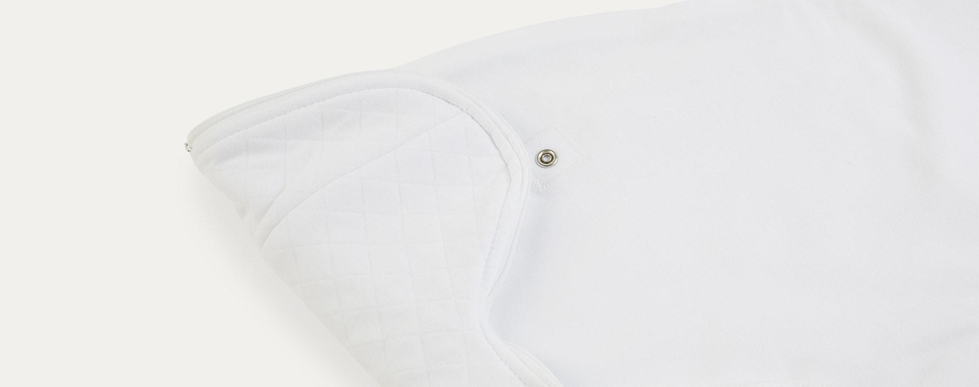 Soft White PurFlo Swaddle to Sleep Bag All Seasons 2.5 Tog