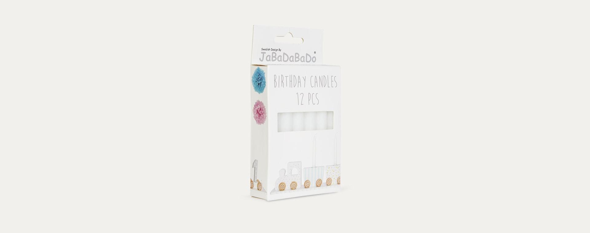 White Jabadabado Birthday Candles