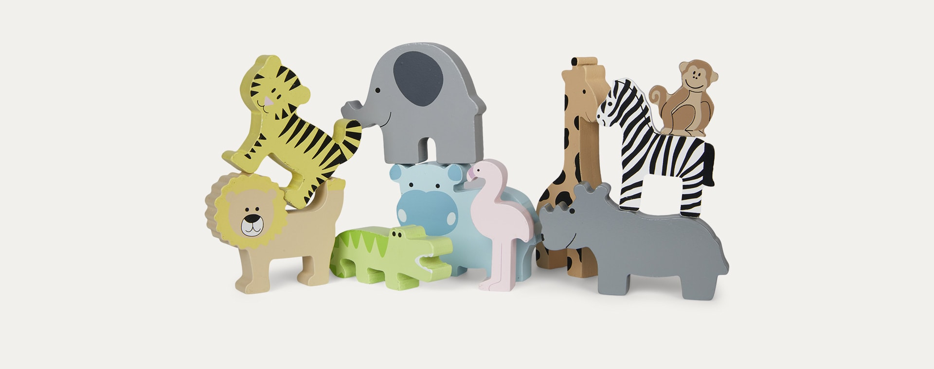 Safari Animals Jabadabado Display Shelf