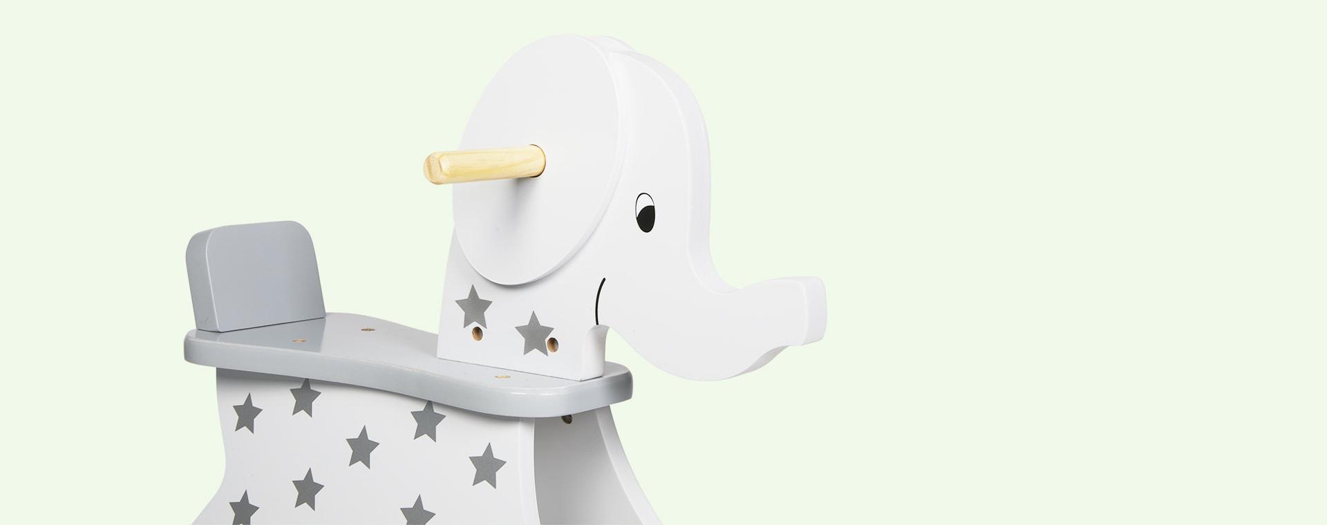 Grey Jabadabado Rocking Elephant