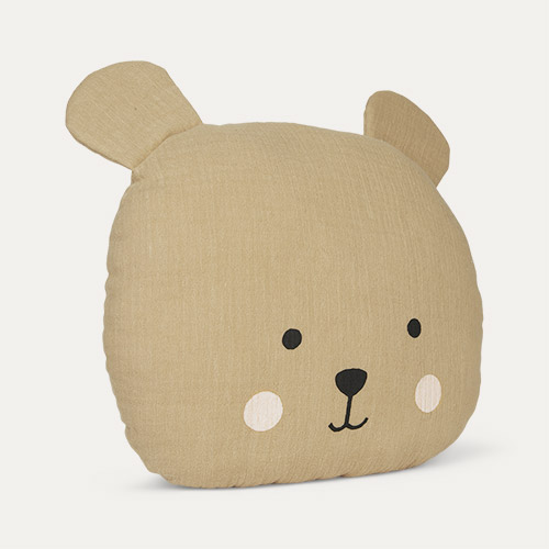 Brown Jabadabado Teddy Cushion