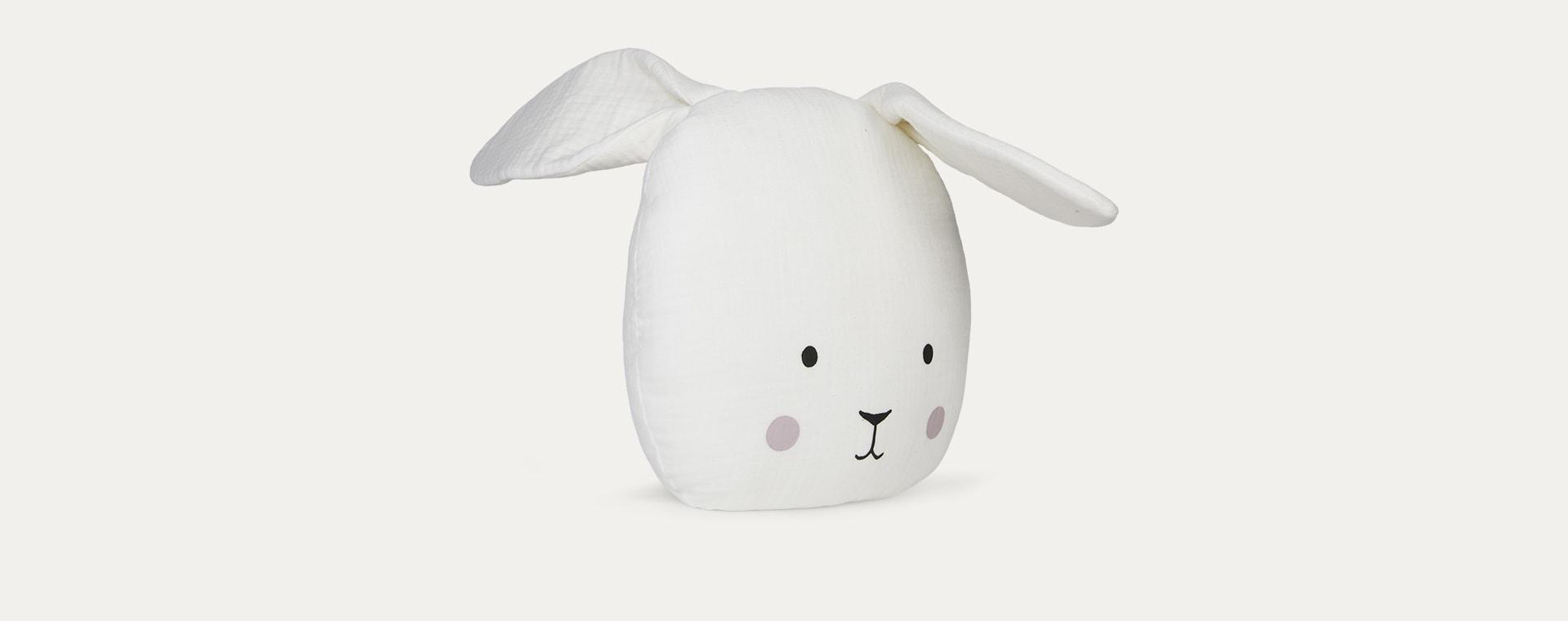 White Jabadabado Bunny Cushion