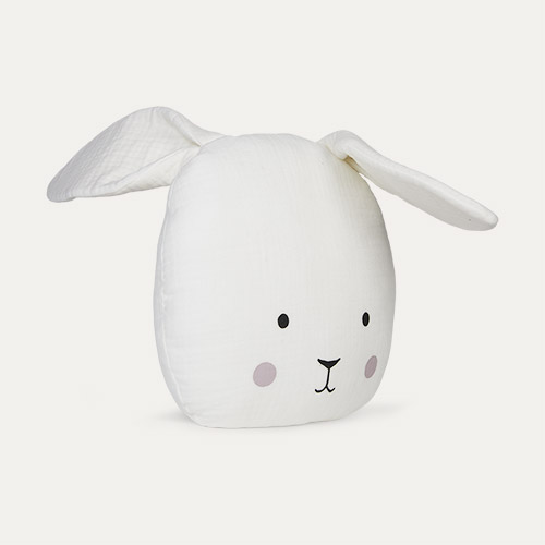 White Jabadabado Bunny Cushion