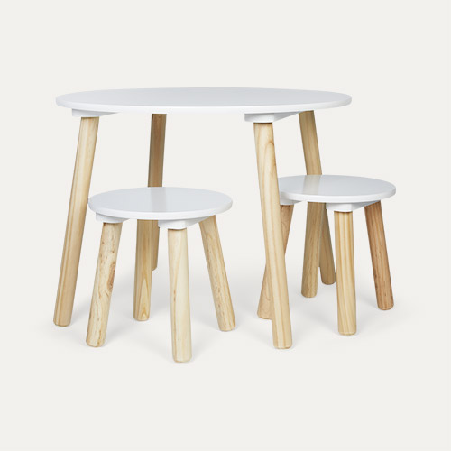 White Jabadabado Table and Stools