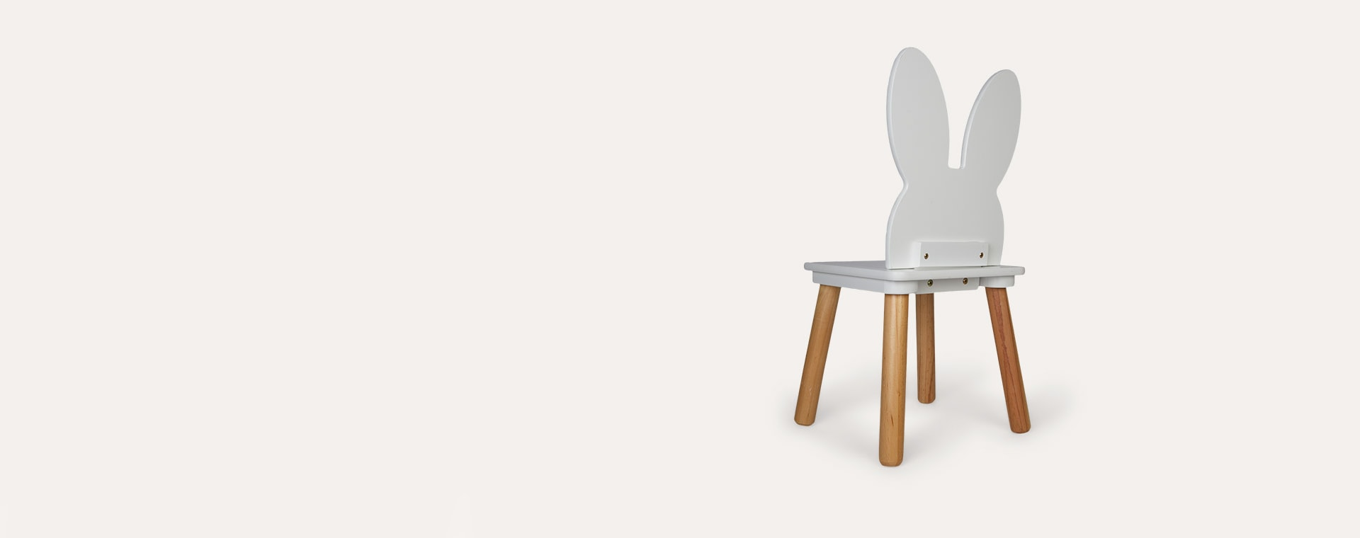 White Jabadabado Bunny Chair